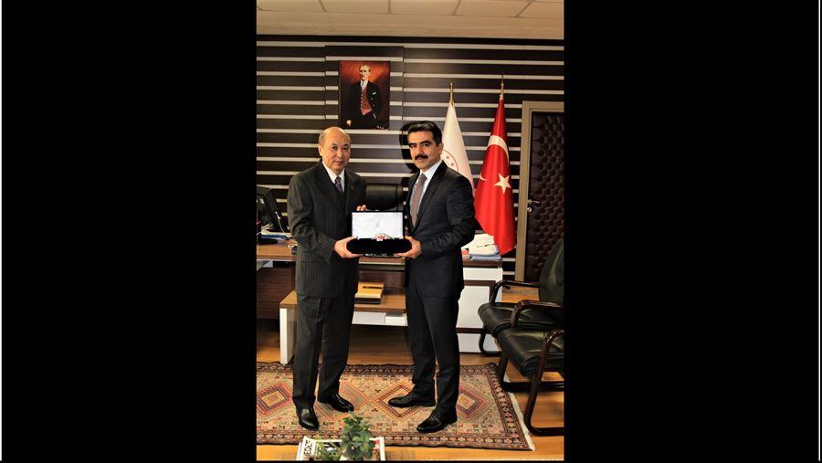 Moğolistan Ankara Büyükelçisinin 27 Aralık 2019 tarihinde gerçekleştirdiği ziyaret