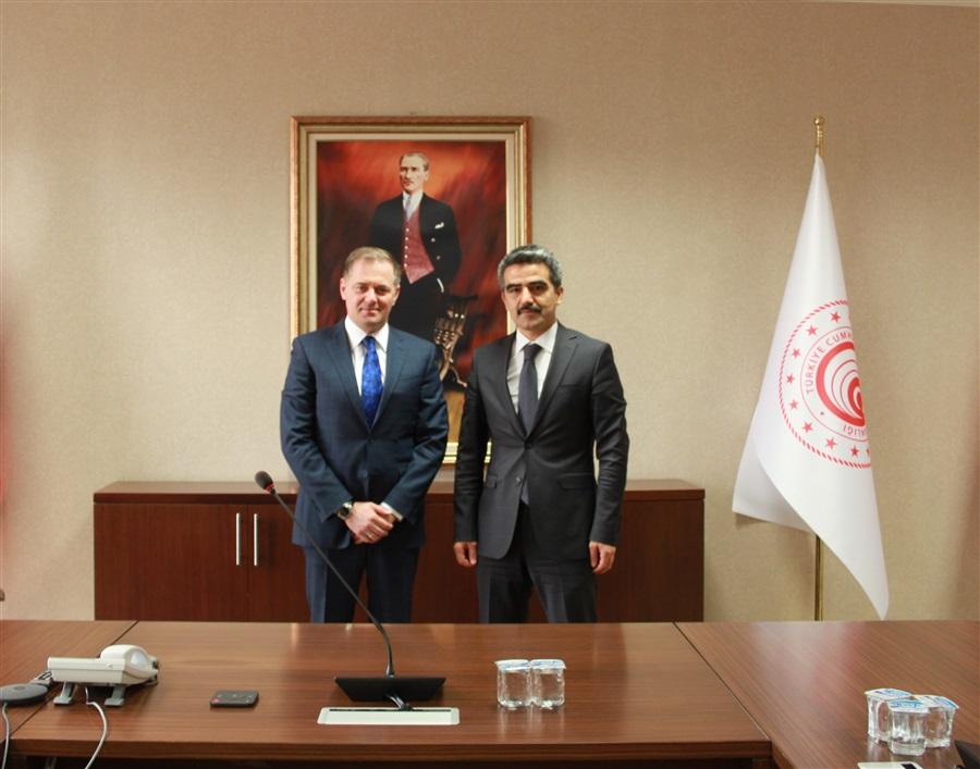 Arnavutluk Gümrükler Genel Müdürü'nün 03.06.2021 tarihinde Genel Müdürlüğümüze gerçekleştirdiği ziyaret
